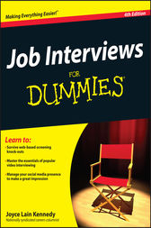 Job Interviews For Dummies by Kennedy