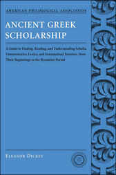 Ancient Greek Scholarship