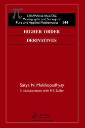 Higher Order Derivatives by Satya Mukhopadhyay