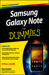 Samsung Galaxy Note For Dummies by Dan Gookin