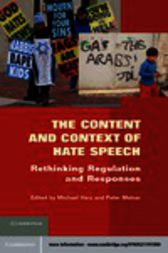 The Content and Context of Hate Speech by Michael Herz