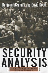 Security Analysis: The Classic 1940 Edition
