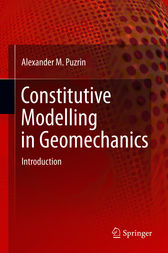 Constitutive Modelling in Geomechanics by Alexander Puzrin