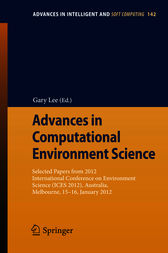 Advances in Computational Environment Science by Gary Lee