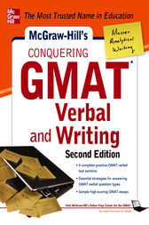 McGraw-Hills Conquering GMAT Verbal and Writing, 2nd Edition by Doug Pierce