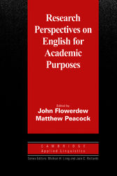 Research Perspectives on English for Academic Purposes by John Flowerdew