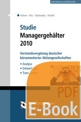 Studie Managergehälter 2010 (E-Book) by Christoph Kuhner