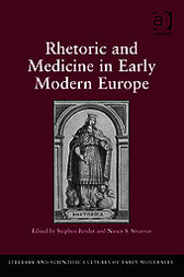 Rhetoric and Medicine in Early Modern Europe