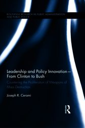 Leadership and Policy Innovations  From Clinton to Bush