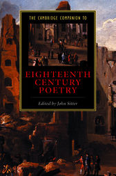 The Cambridge Companion to Eighteenth-Century Poetry by John Sitter