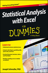 Statistical Analysis with Excel For Dummies by Joseph Schmuller