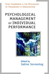 Psychological Management of Individual Performance by Sabine Sonnentag