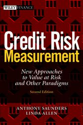 Credit Risk Measurement by Anthony Saunders