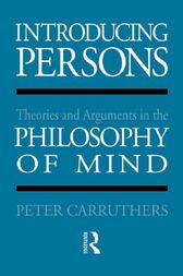 Introducing Persons by Peter Carruthers
