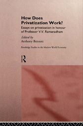 How Does Privatization Work? by Anthony Bennett