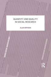 Quantity and Quality in Social Research by Alan Bryman