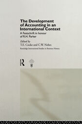 The Development of Accounting in an International Context by T.E. Cooke