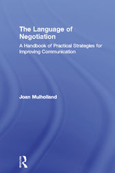 The Language of Negotiation by Joan Mulholland