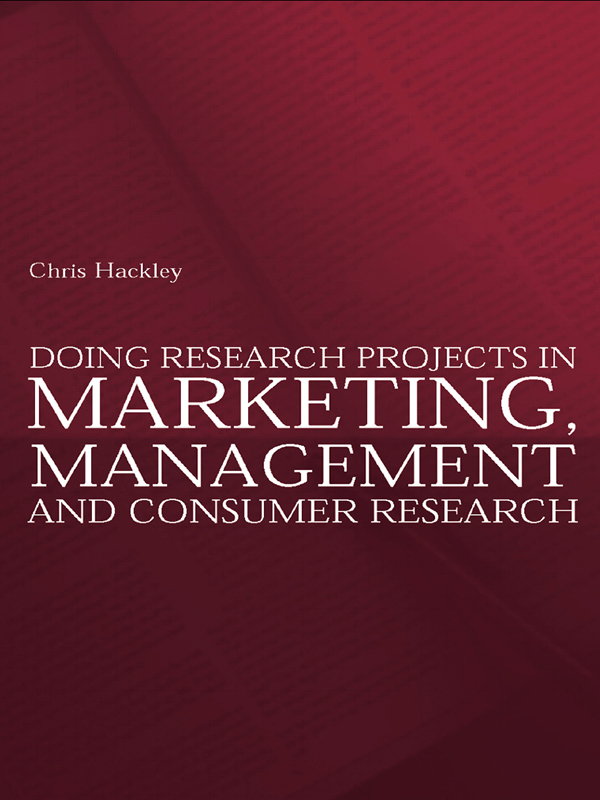 Download Ebook Doing Research Projects in Marketing, Management and Consumer Research by Chris Hackley Pdf