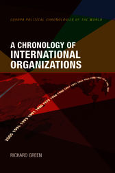 A Chronology of International Organizations by Richard Green