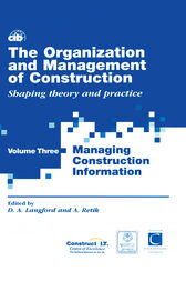 The Organization and Management of Construction by David Langford