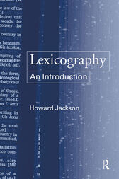 Lexicography by Howard Jackson
