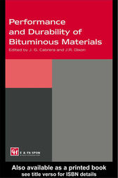 Performance and Durability of Bituminous Materials by J.G. Cabrera