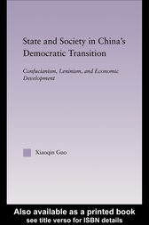State and Society in China's Democratic Transition by Xiaoqin Guo