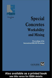 Special Concretes - Workability and Mixing by P.J.M. Bartos