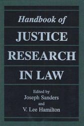 Handbook of Justice Research in Law by Joseph Sanders