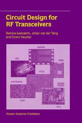 Circuit Design for RF Transceivers by Domine Leenaerts