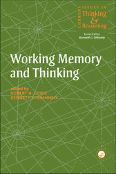 Working Memory and Thinking by Kenneth Gilhooly