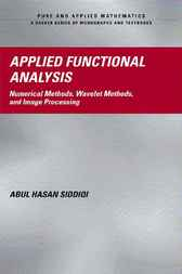 Applied Functional Analysis by Abul Hasan Siddiqi
