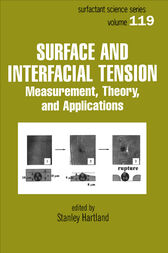 Surface and Interfacial Tension by Stanley Hartland