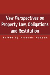 New Perspectives on Property Law by Alistair Hudson