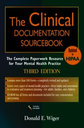 The Clinical Documentation Sourcebook by Donald E. Wiger