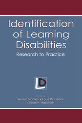 Identification of Learning Disabilities by Renee Bradley