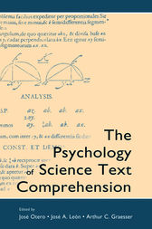 The Psychology of Science Text Comprehension by Jose Otero