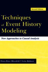 Techniques of Event History Modeling by Hans-Peter Blossfeld