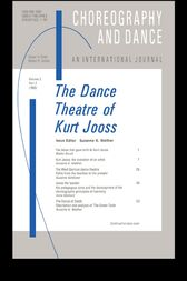 The Dance Theatre of Kurt Jooss by Suzanne Walther
