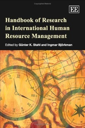 Handbook of Research in International Human Research Management by G.K. Stahl
