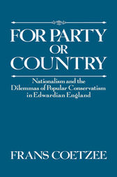 For Party or Country by Frans Coetzee