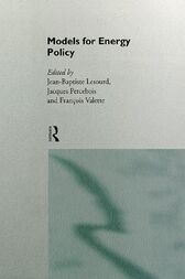 Models for Energy Policy by Jean-Baptiste Lesourd