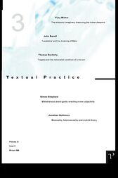 Textual Practice 10.3 by Alan Sinfield