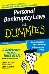 Personal Bankruptcy Laws For Dummies by James P. Caher