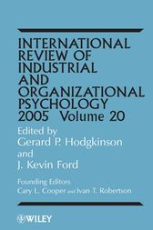 International Review of Industrial and Organizational Psychology 2005 by Gerard P. Hodgkinson