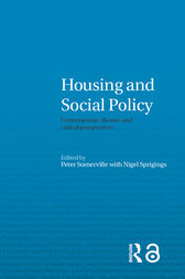 Housing and Social Policy by Peter Somerville