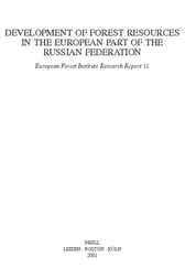 Development of forest resources in the European part of the Russian Federation by A.I. Pisarenko
