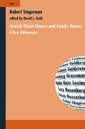 Jewish given names and family names by R. Singerman