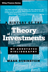 A History of the Theory of Investments by Mark Rubinstein